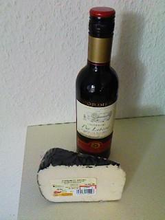 ワインとチーズ(ベルギースーパー)