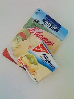ドイツのスライスチーズ