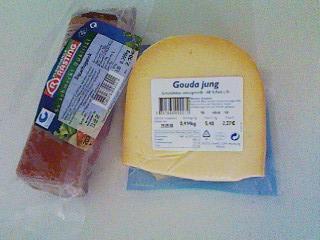 ベーコンとゴーダチーズ