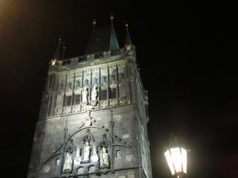 カレル橋塔夜