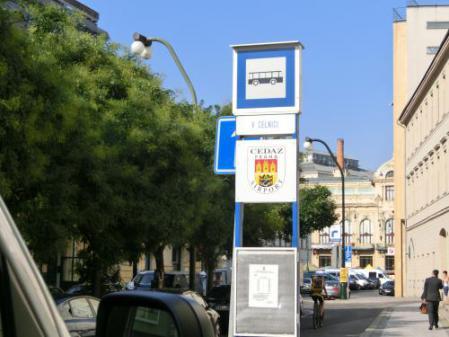 プラハミニバスバス停
