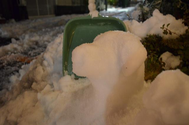雪ラブだるま