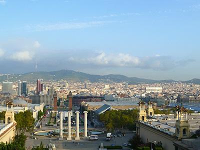 カタルーニャ美術館からの眺め