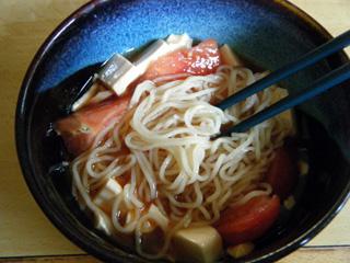 夏の旨辛トマトつけ麺
