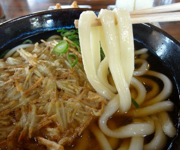 『大力うどん』ごぼう天うどん(麺リフト)