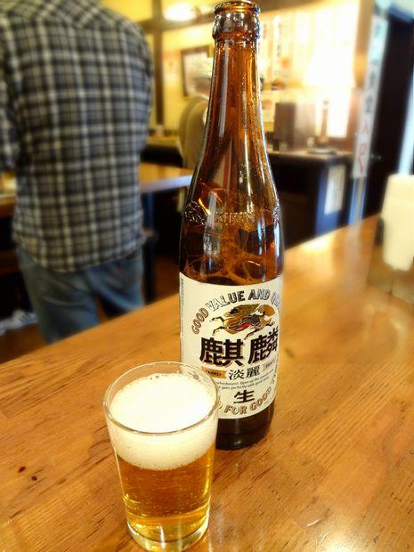 『立ち飲み 角屋』キリン淡麗(大瓶・430円)
