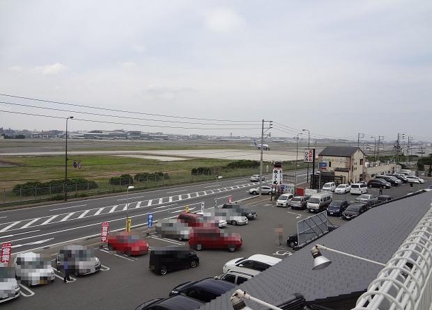 『牧のうどん 空港店』展望台からの見晴らし