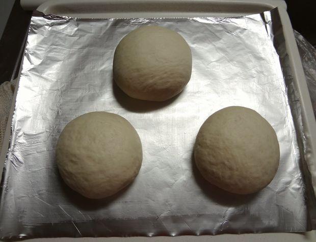 食パン作り(ベンチタイム前の生地)