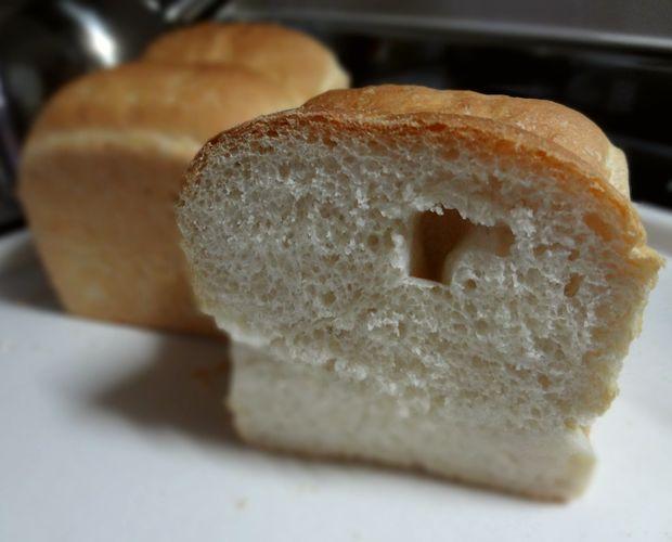 食パン作り(焼き上がり断面図)