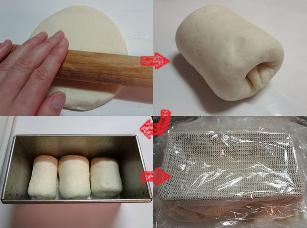 食パン作り(成形)