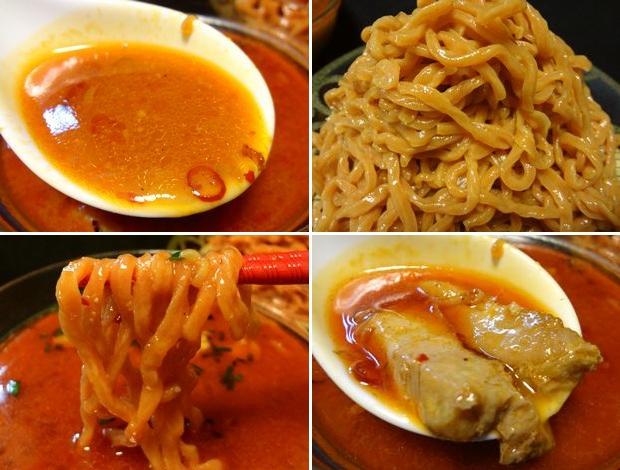 『らーめんふぁくとりー のすけ』つけのすけ・赤(通販商品、調理したスープと麺)