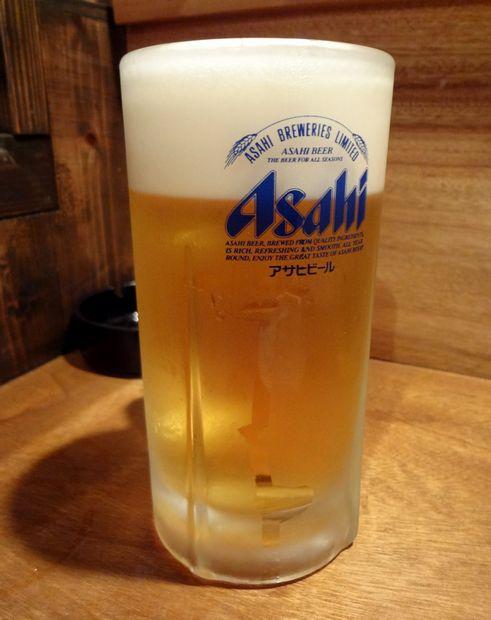 『旬魚酒房 かぶきもん』生ビール