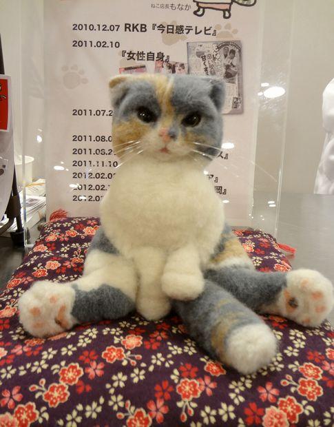 『スコティッシュもなかちゃん』@博多阪急催事(飾られていたもなかちゃんのフェルトぬいぐるみ)