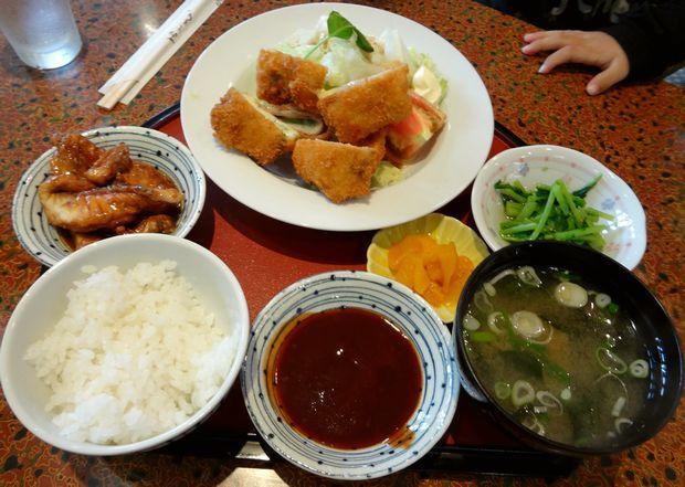 『居酒屋 風味処 味工房』豚しそ巻フライ定食(787円)