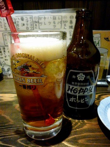 『やきとん 成』黒ホッピー(?円)