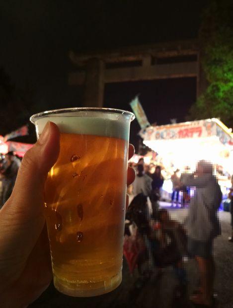 放生会・2012年(大鳥居裏で生ビール500円)
