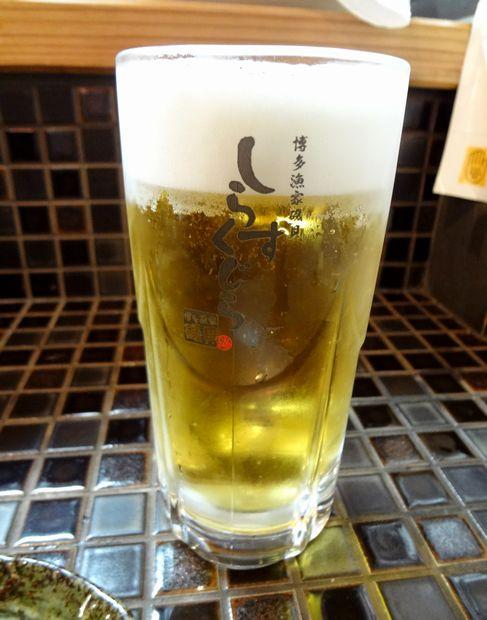 『しらすくじら 天神店』生搾り<樽生>(270円)