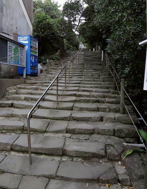 「鵜戸神宮」参道の石段