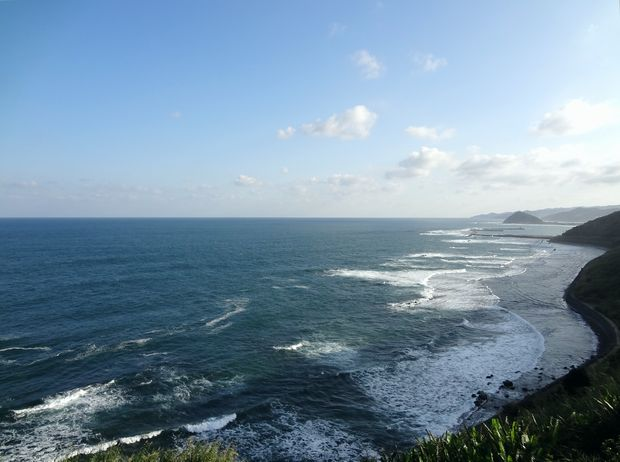 『道の駅 フェニックス』目前の海岸
