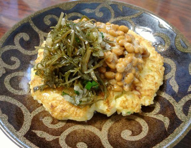 【自炊】焼き卵かけご飯・納豆二種がけ