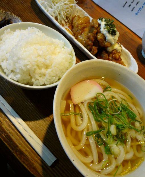 『うどん屋 米ちゃん』チキン南蛮とうどんのセットB(アップ)