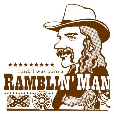 EverydayRock T Shirt Dickey Betts Allman Brothers Band caricature