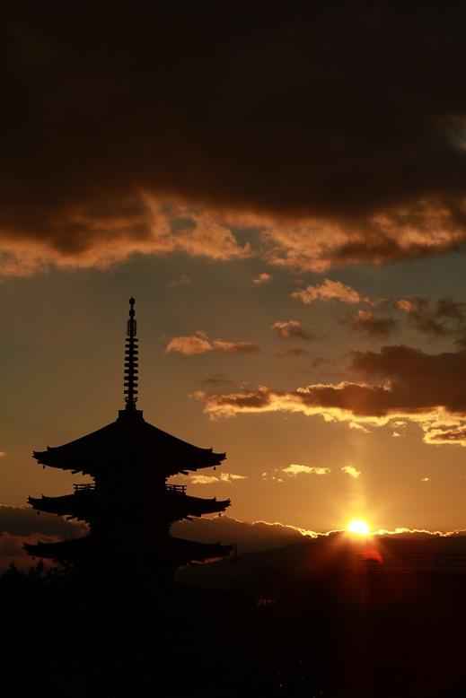 八坂の塔、黄昏