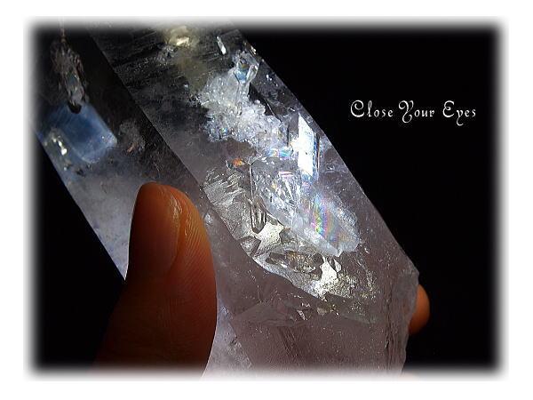 水晶ポイント(レインボー)