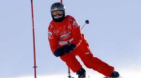 ミハエル・シューマッハがスキーで怪我
