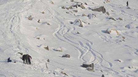 シューマッハが負傷したスキー事故現場