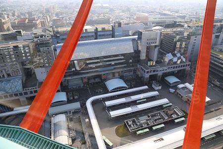 ポートタワーからの京都駅