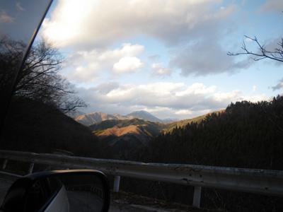 粕尾峠から日光方面