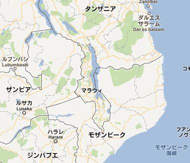 地図:マラウイ
