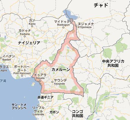 カメルーンmap
