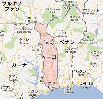 地図:トーゴ
