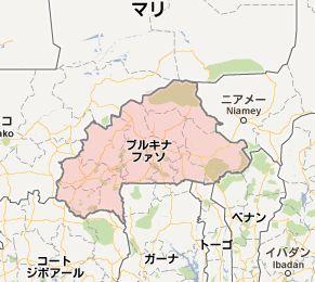 地図:ブルキナファソ