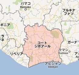 コートジボワールmap