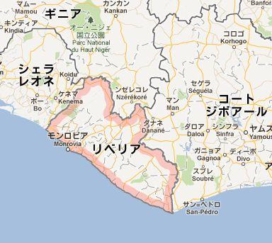 地図:リベリア