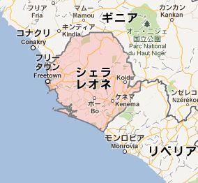 地図:シエラレオネ