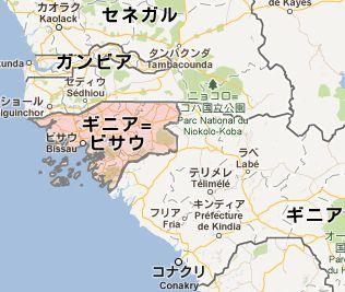 地図:ギニアビサウ