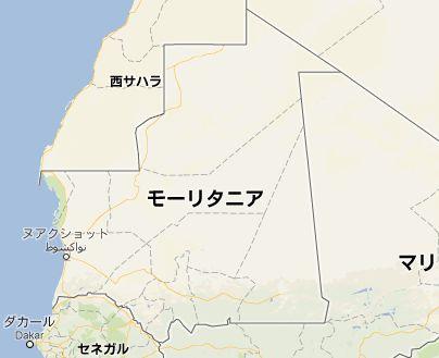 モーリタニアmap