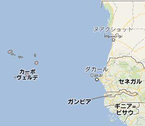 地図:カーボベルデ