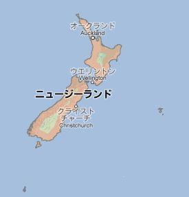 地図:ニュージーランド