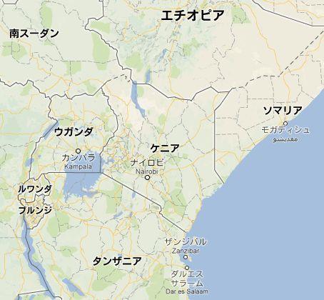地図:ケニア