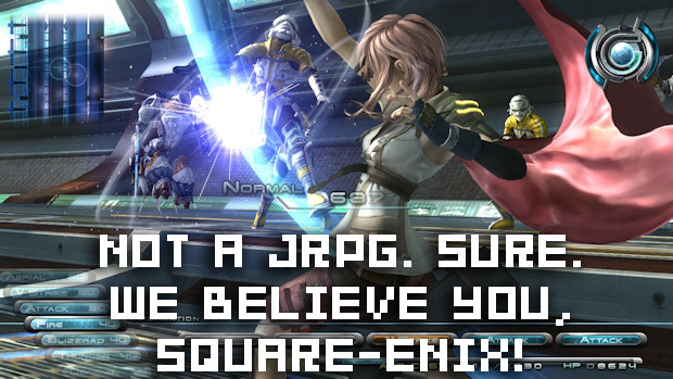 Final Fantasy XIII not a JRPG, despite being a JRPG