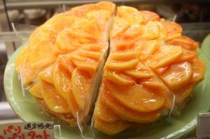 黄金桃のパリパリタルト