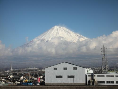 吹雪の富士山