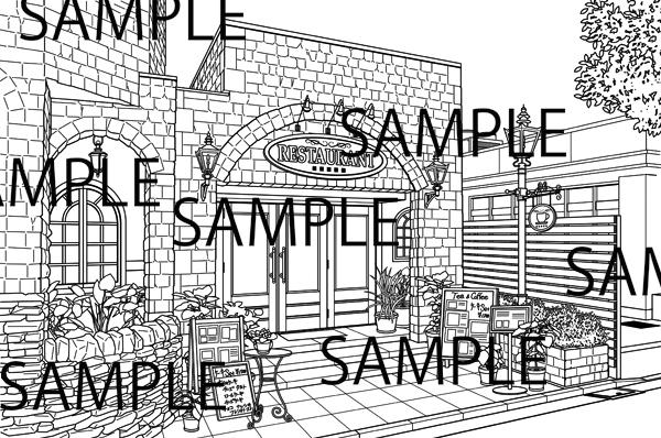 カフェ・レストランのイラスト/風景堂