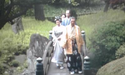 吉良邸庭の欄干橋