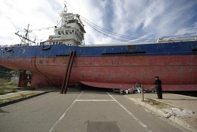 津波で流された船